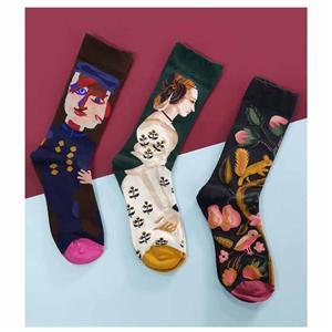 Kişilik Yaratıcı Renk Trend Çift Çorap