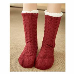 Personalized Thickened Velvet Elk Christmas Socks