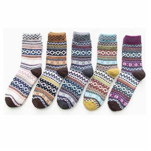 Wool Thick Knitted Vintage Winter Warm Cozy Gift Women Socks