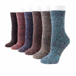 Kalın Örme Vintage Sıcak Rahat Hediye Kadınlar Yün Çorap