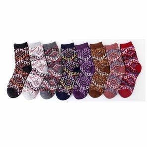 Монограммой Стильный Vintage Wool Этнический стиль носки