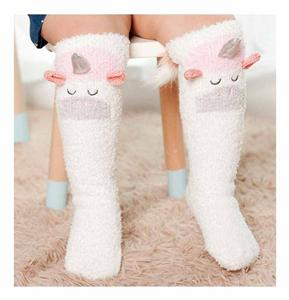 Creative Stitching Cartoon Animal Unicorn Laste Sokid
