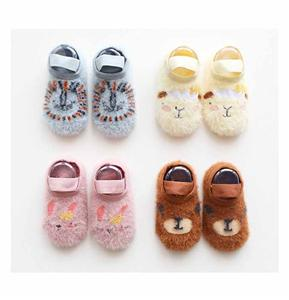 Mink Cashmere Dispensing Non-slip Cartoon Animal Baby Socks
