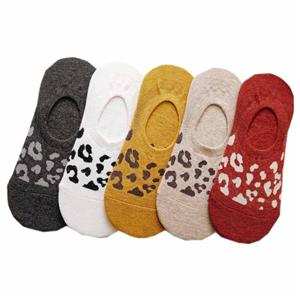 Shallow Mouth Non-slip Silicone Summer Leopard Invisible Socks