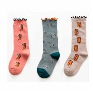 Creative Wild Cute Wooden Ear Girl Jacquard Socks