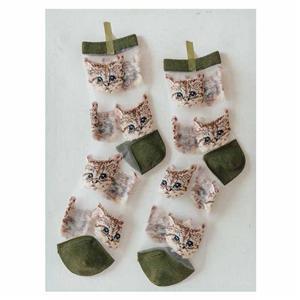 ส่วนบุคคลที่อินเทรนด์ป่าใสหีแมวน่ารักผู้หญิงถุงน่อง
