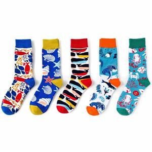 Creative Personality Tide Marine Series Shark Colorful Socks