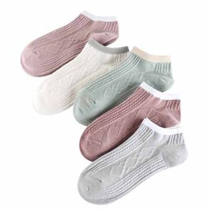 Breathable Invisible Double Needle Striped Ladies Casual Socks