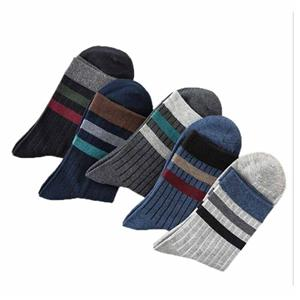 Warm Sweat-absorbent Stylish Thickening Striped Male Socks