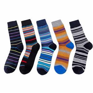 Kişiselleştirilmiş Şık Mutlu Renkli Çizgili Casual Erkekler Çorap