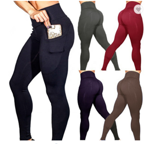 Sports atacado apertadas Mulheres cintura alta Leggings Workout Yoga