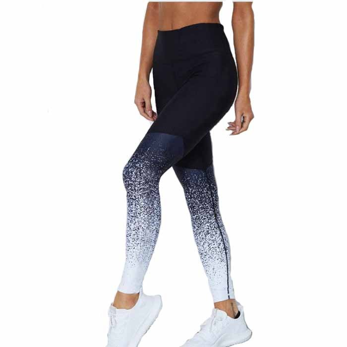 Hip Lift High Waist Printed Geometric Dot Yoga Leggings