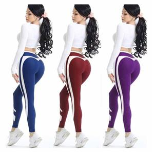 Colorful white Border Print Love Women's Sports Yoga Tights