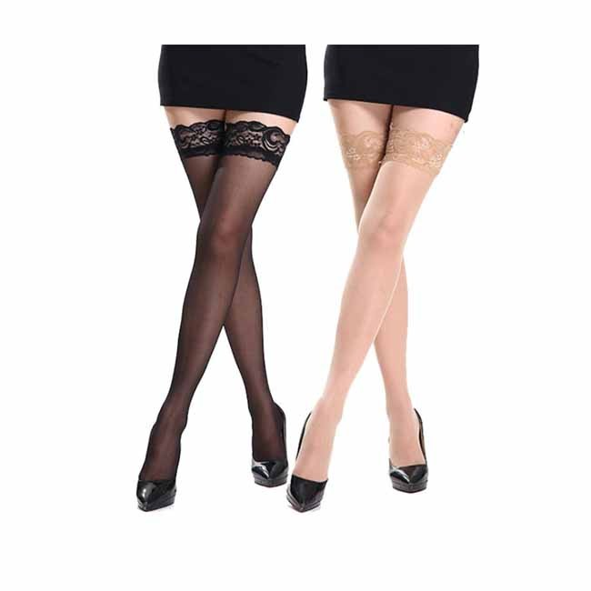 Stylish Sheer Stay-Up Silicone Non-slip Lace Stockings