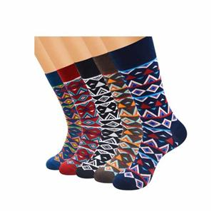 Personalized Creative Funky Argyle Men Colorful Socks