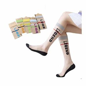 Personalized Fashion Glass Silk Clear Alphabet Women Stockings