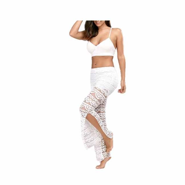 Calças elegante Elegent Dança Patchwork Sexy Lace Mulheres Praia