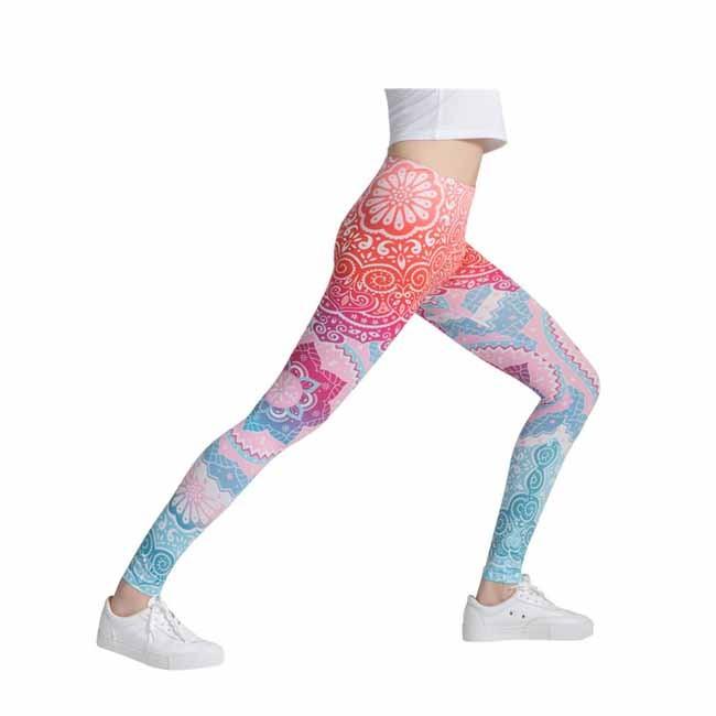 Creative Happy Colorful Printed Women Tie-dye Yoga Leggings Manufacturers, Creative Happy Colorful Printed Women Tie-dye Yoga Leggings Factory, Supply Creative Happy Colorful Printed Women Tie-dye Yoga Leggings