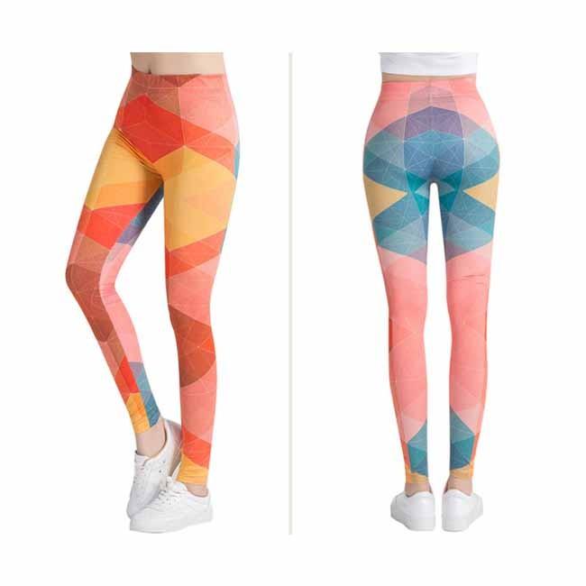 Creative Happy Colorful Printed Women Tie-dye Yoga Leggings