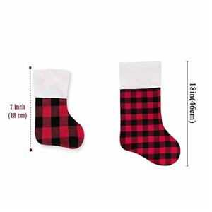 Stylish Classic Buffalo Plaid Christmas Stocking