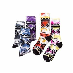 Criativo personalizado feliz Tie-dye geométricas Socks