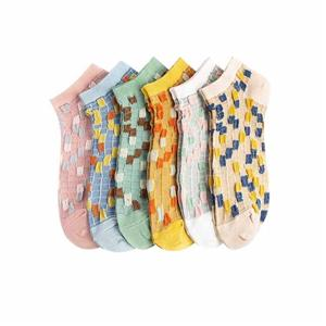 creative-personalized-color Argyle Fashion Women-boat Socks