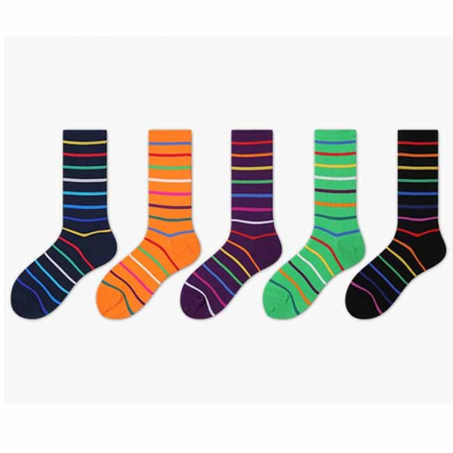 Creative Happy Cute Colorful Rinbow Striped Women Socks Manufacturers, Creative Happy Cute Colorful Rinbow Striped Women Socks Factory, Supply Creative Happy Cute Colorful Rinbow Striped Women Socks