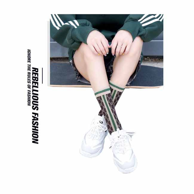 Fashion Summer Silver Striped Alphabet Mesh Women Socks