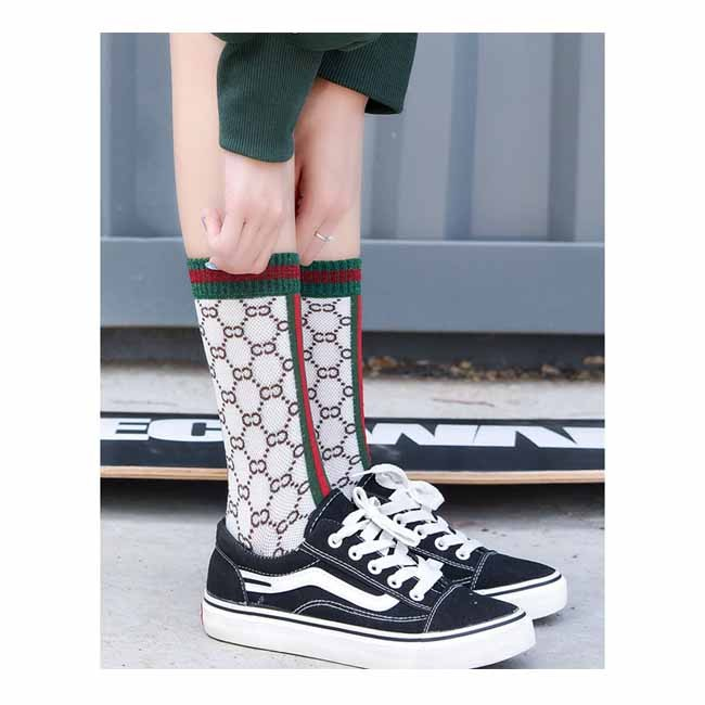 Fashion Summer Silver Striped Alphabet Mesh Women Socks Manufacturers, Fashion Summer Silver Striped Alphabet Mesh Women Socks Factory, Supply Fashion Summer Silver Striped Alphabet Mesh Women Socks