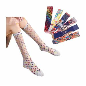 Creative Happy Gold Glitter Painting Printing Socks