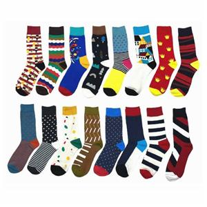 Creative Colorful Wavy Jacquard Rainbow Happy Socks