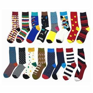 Yaratıcı Renkli Dalgalı Jakarlı Gökkuşağı Mutlu Çorap
