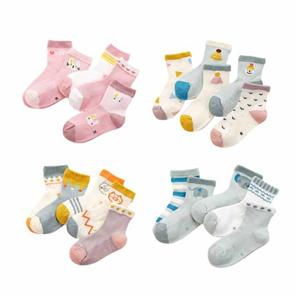 Breath Customize Cute Elephant Children Mesh Socks