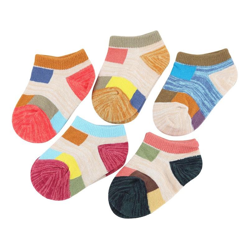 Nuevo desgin Summer Baby cartoon patchwork de malla de algodón fino sólido calcetines coloridos para bebés