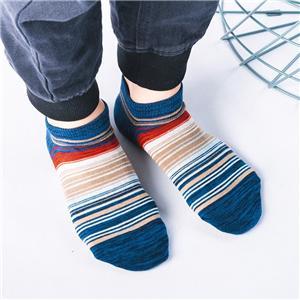 2020 Toptan OEM Unisex Japon Ulusal Stil Moda Çizgili Tekne Erkekler Atletik Çorap