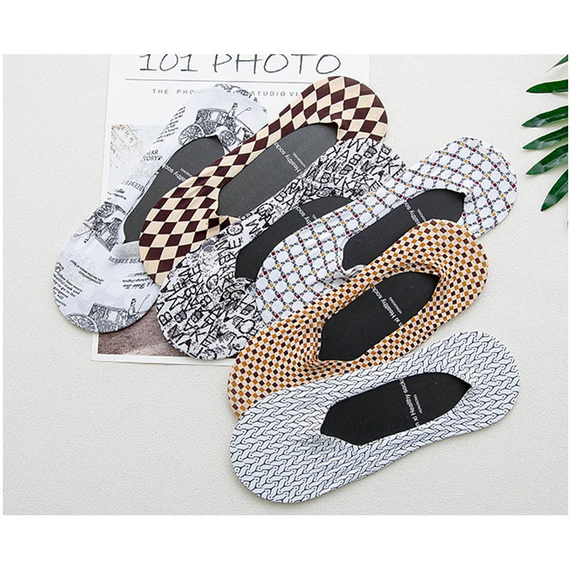 OEM summer custom cheap sport trendy printed ice silk men Invisible socks