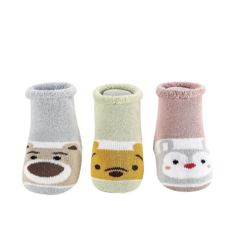 OEM Winter Personalized Creative Baby Thickened Terry Christmas Gift White Bear Socks