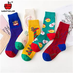OEM Wholesale Trendy Custom High Quality Amazon Cartoon cute series couple Christmas Socks
