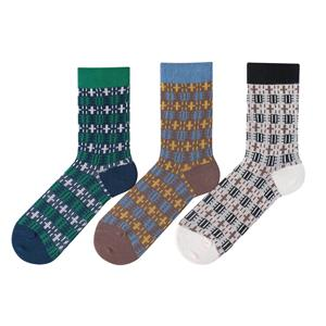 OEM Wholesale Trendy Custom Vintage Thin Japanese cotton men Harajuku Happy Athletic Cozy Socks