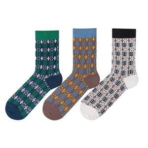 OEM por atacado na moda do vintage fino japonês algodão homens Harajuku feliz Atlético meias aconchegantes