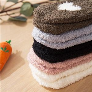 Wholesale Terry Cute Cat Paw Cozy Sleeping Fuzzy Sherpa Socks