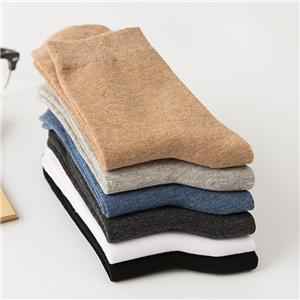 New Arrival Personalized High-end Business Sweat-absorbent Deodorant Fashion Solid Color Men Socks