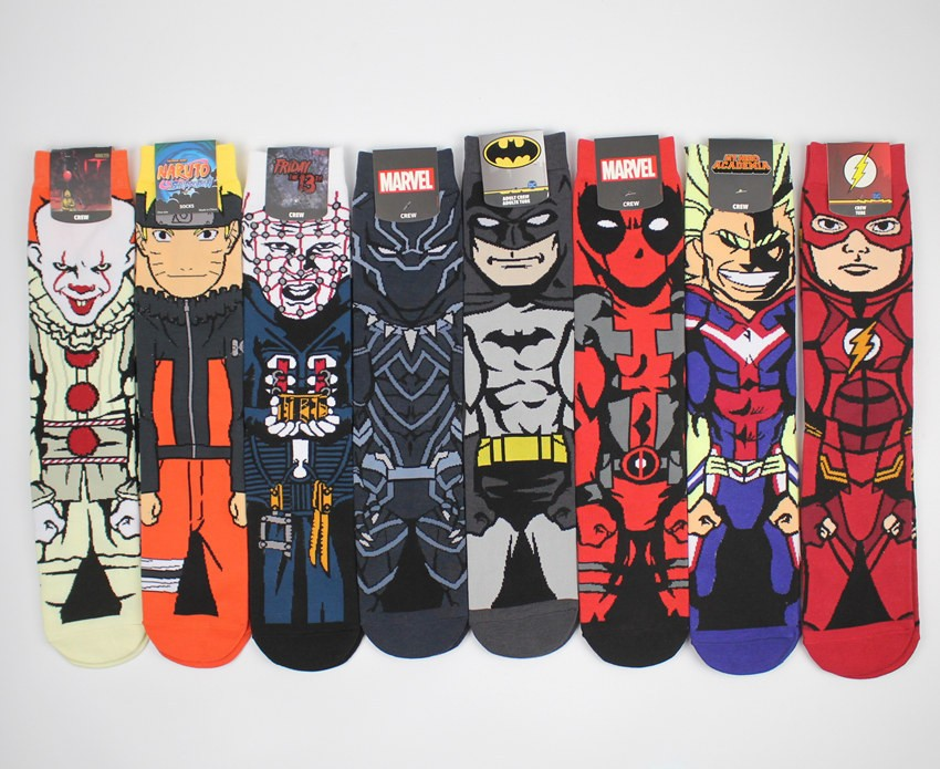 New Arrival Personality Stylish Sponge Marvel Supermen Teen Happy Animation Men Socks Manufacturers, New Arrival Personality Stylish Sponge Marvel Supermen Teen Happy Animation Men Socks Factory, Supply New Arrival Personality Stylish Sponge Marvel Supermen Teen Happy Animation Men Socks