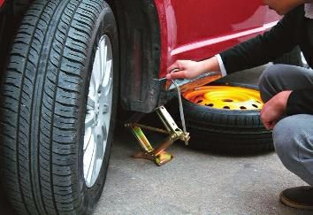 Can you use the jack properly when changing tires?