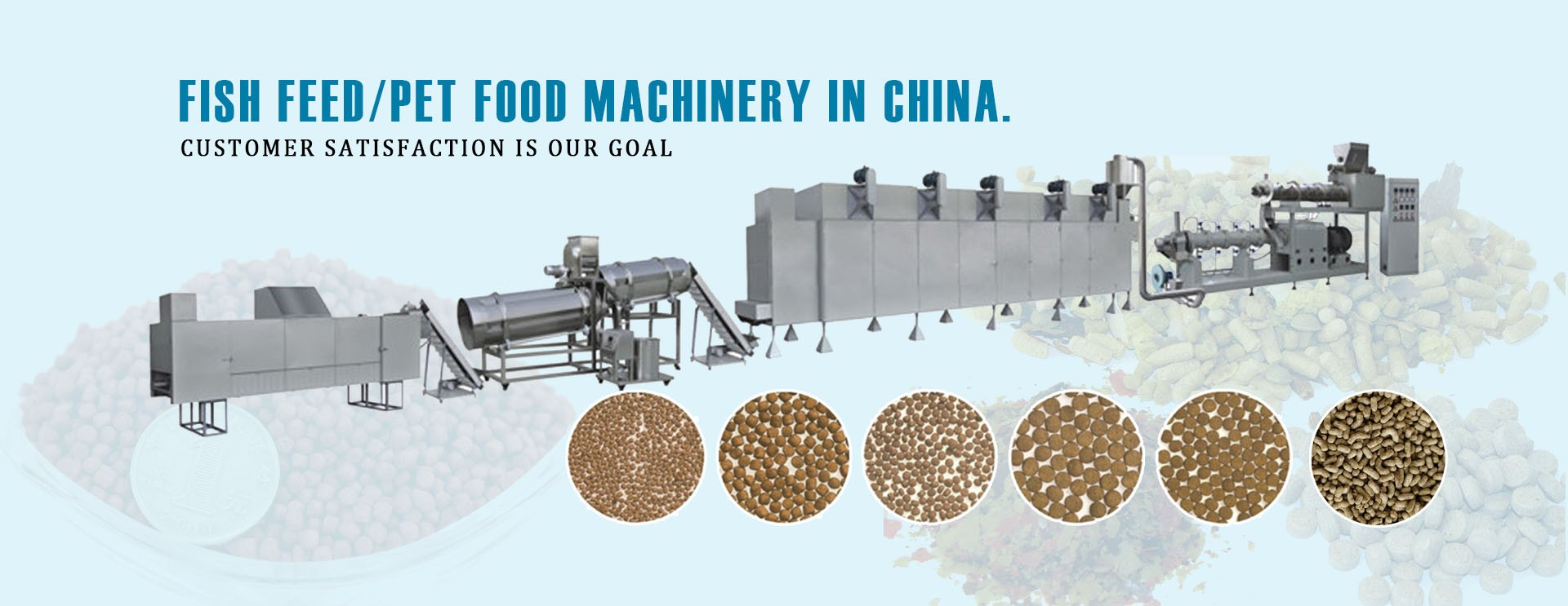 Ligne de production d'aliments pour poissons