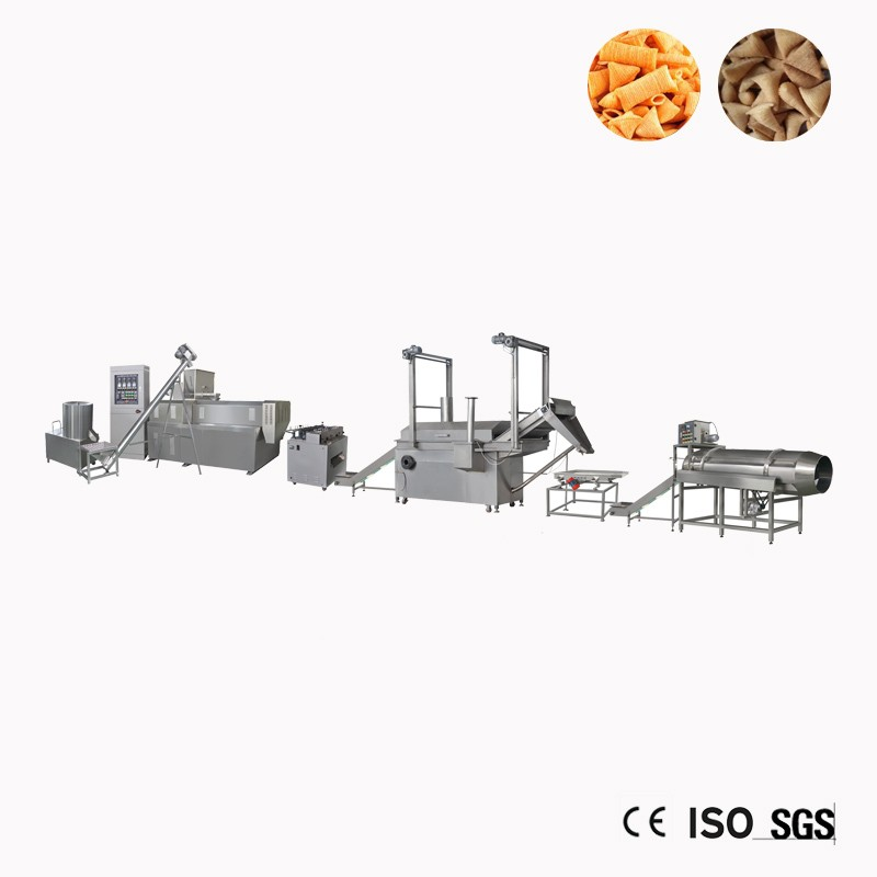 Fried Bugles Chips Snacks Extruder Making Machine