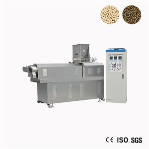 Single Screw Fish Feed Extruder Machine Plant