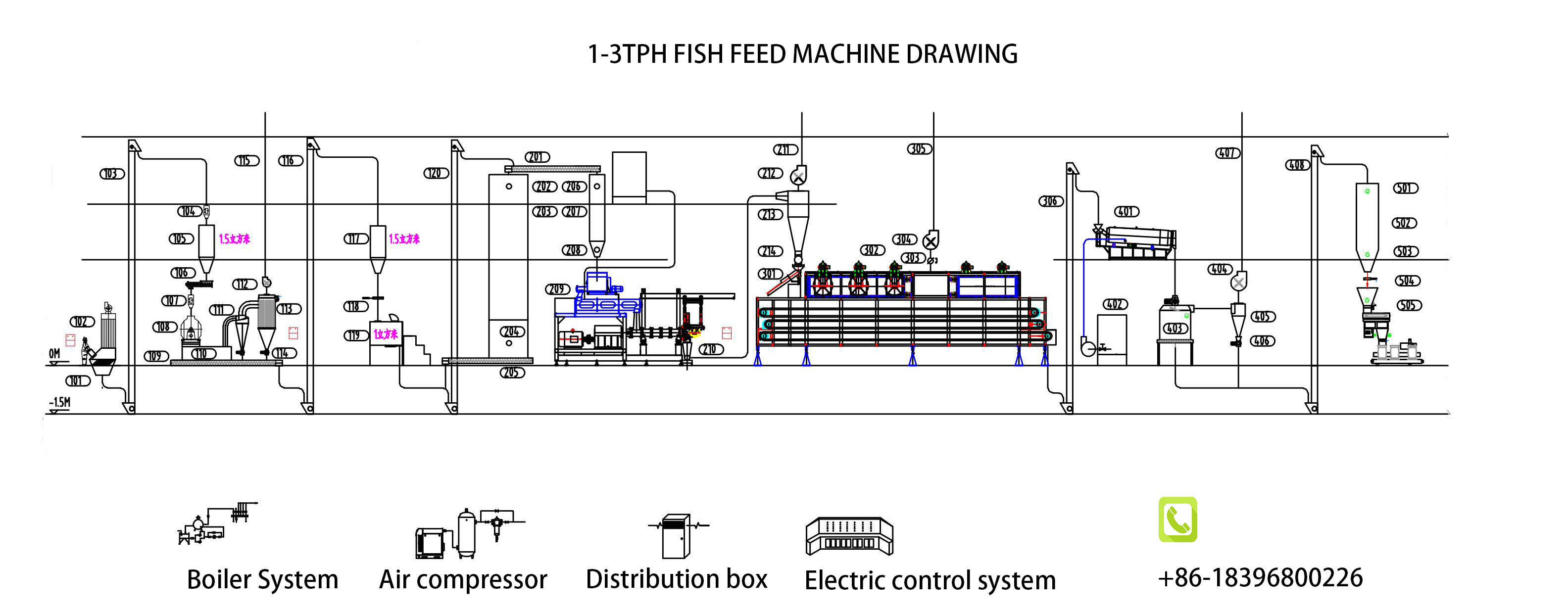 High quality floating fish feed manufacturing machine