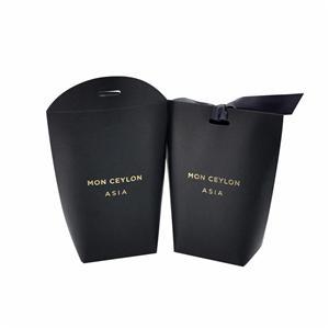 ロゴブラックカラー紙箱メーカースタンピング箔