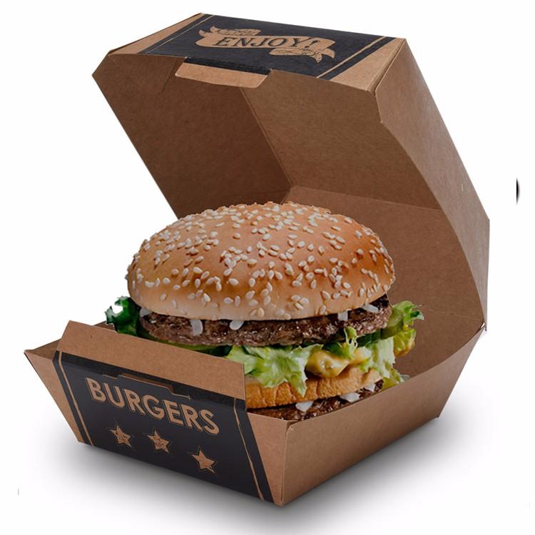 Kraft Paper Burger Box Customized Printing